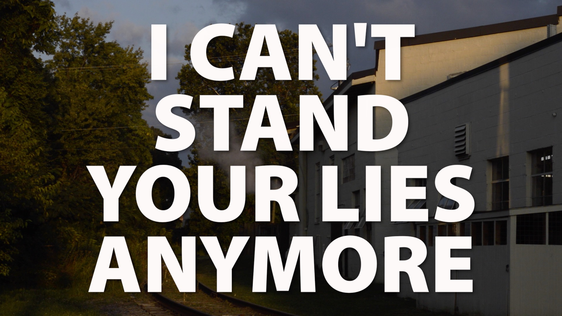 I Can't Stand Your Lies Anymore