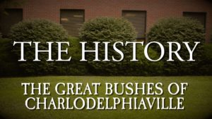 The History – The Great Bushes of Charlodelphiaville